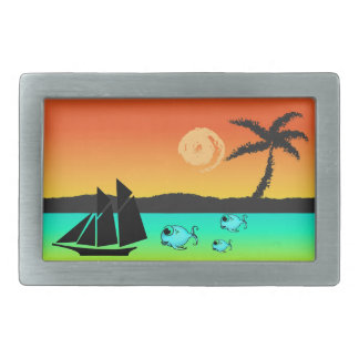 Island Sunset Belt Buckle