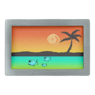 Island Sunset Belt Buckles