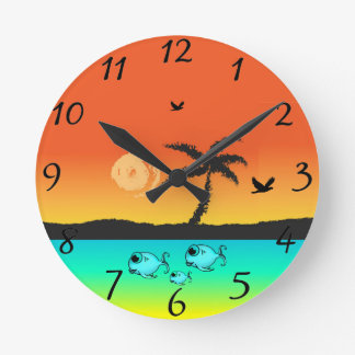 Island Sunset Clocks