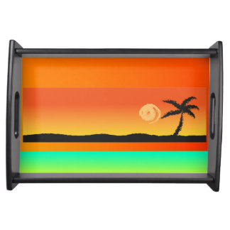 Island Sunset Serving Tray
