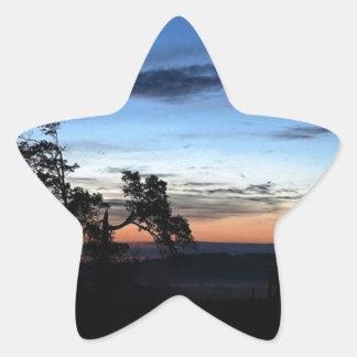 Island sunset, St Joseph Island, Ontario, Canada Star Sticker
