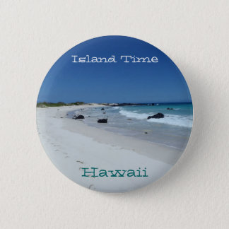 Island Time Hawaii scenic beach souvenir button