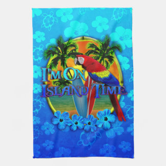 Island Time Sunset Kitchen Towel