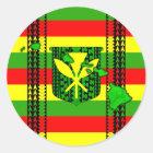 Island Tribal Kanaka Maoli Flag Classic Round Sticker