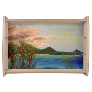 Island view serving tray