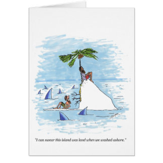 Island Was Level cartoon greeting card