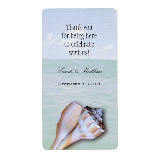 Island Whelk 2 Custom Template Wedding Wine Labels