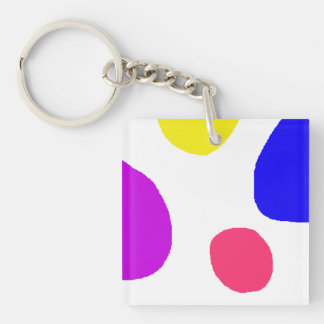 Islands Double-Sided Square Acrylic Keychain