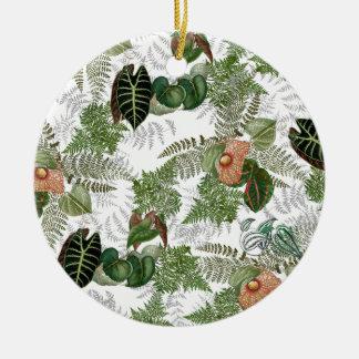 Islands Ferns Flowers Tropical Christmas Ornament