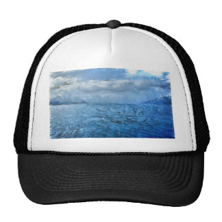 Islands in the blue sea trucker hat