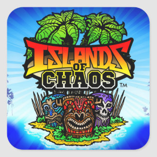 Islands of Chaos App Stickers, Glossy Square Sticker