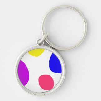 Islands Silver-Colored Round Keychain