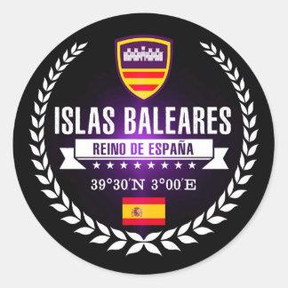 Islas Baleares Classic Round Sticker