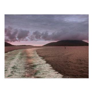 Isle of Barra from Sea Postcard