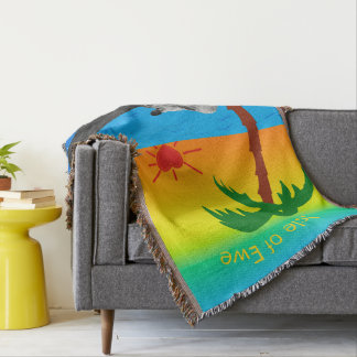 Isle of Ewe for Valentines Day Throw Blanket
