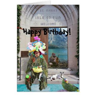 Isle of Fun, Happy Birthday! Card