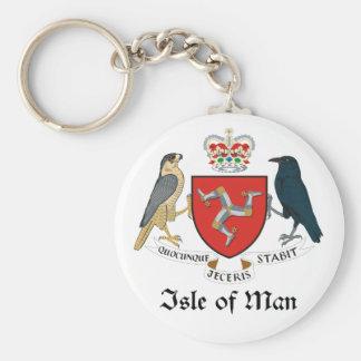 ISLE OF MAN - emblem/flag/symbol/coat of arms Basic Round Button Keychain