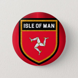 Isle of Man Flag 2 Inch Round Button