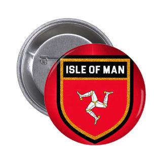 Isle of Man Flag 2 Inch Round Button