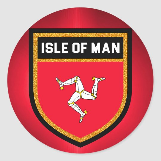 Isle of Man Flag Classic Round Sticker