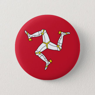 Isle of Man Flag - Manx Flag - Brattagh Vannin 2 Inch Round Button