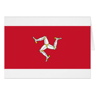 Isle of Man Flag - Manx Flag - Brattagh Vannin Card