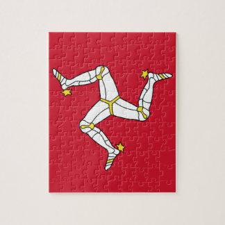 Isle of Man Flag - Manx Flag - Brattagh Vannin Jigsaw Puzzle