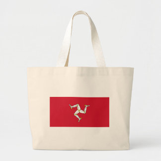 Isle of Man Flag - Manx Flag - Brattagh Vannin Large Tote Bag