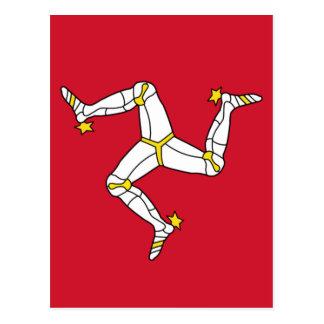Isle of Man Flag - Manx Flag - Brattagh Vannin Postcard