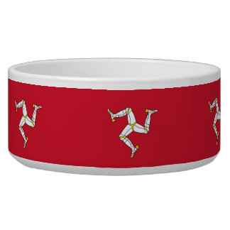 Isle of Man Flag Pet Bowl