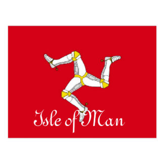 Isle of Man flag Postcard
