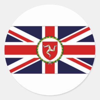 Isle of Man Lieutenant Governor Flag Round Sticker