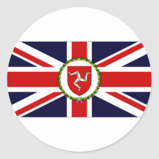 Isle of Man Lieutenant Governor Flag Round Sticker