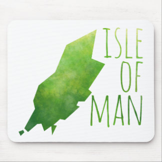 Isle Of Man Map Mouse Pad