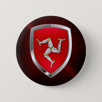 Isle of Man Metallic Emblem 2 Inch Round Button