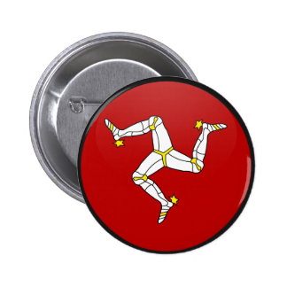 Isle Of Man quality Flag Circle 2 Inch Round Button