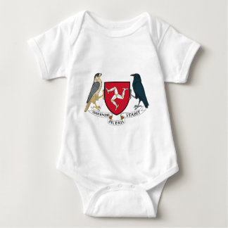 Isle of Man Republican Coat of Arms - Manx Emblem Baby Bodysuit