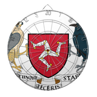 Isle of Man Republican Coat of Arms - Manx Emblem Dartboard