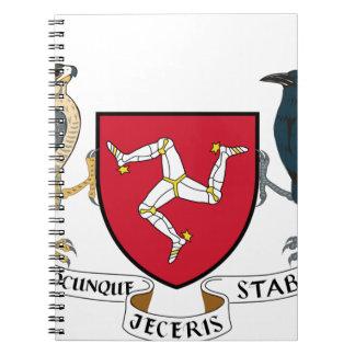 Isle of Man Republican Coat of Arms - Manx Emblem Notebook