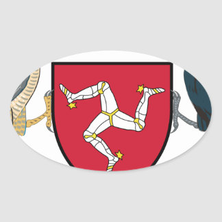 Isle of Man Republican Coat of Arms - Manx Emblem Oval Sticker