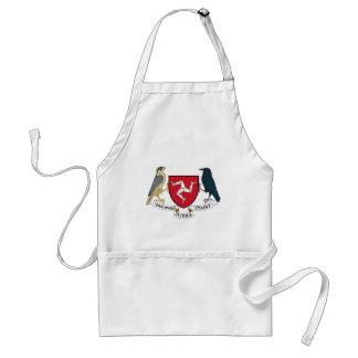 Isle of Man Republican Coat of Arms - Manx Emblem Standard Apron