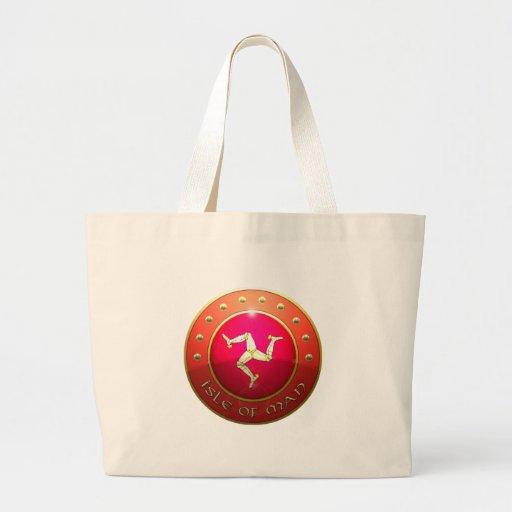 Isle of mann flag shield canvas bags