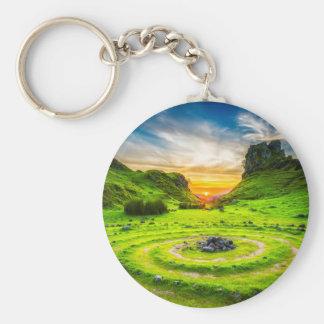 Isle of Sky Valley Keychain