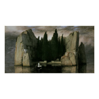 Isle of the Dead, third version by Arnold Bocklin Poster