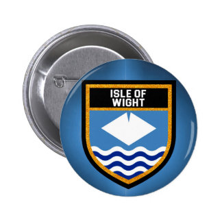Isle of Wight Flag 2 Inch Round Button