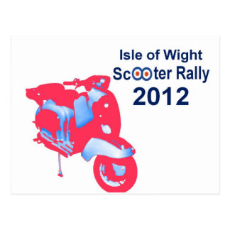 Isle of Wight Scooter Rally 2012 Postcard
