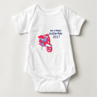 Isle of Wight Scooter Rally 2017 Baby Bodysuit