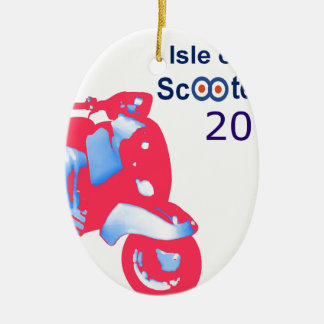 Isle of Wight Scooter Rally 2017 Ceramic Ornament