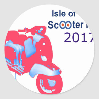 Isle of Wight Scooter Rally 2017 Classic Round Sticker