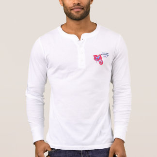 Isle of Wight Scooter Rally 2017 Men's Henley Long T-Shirt